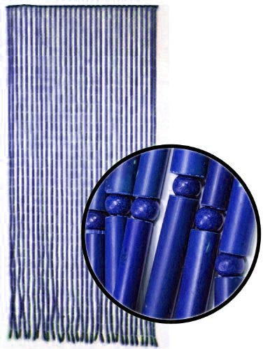 Beaded Curtains - Blue Bamboo Door Beads