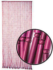 Beaded Curtains - Pink Bamboo Door Beads