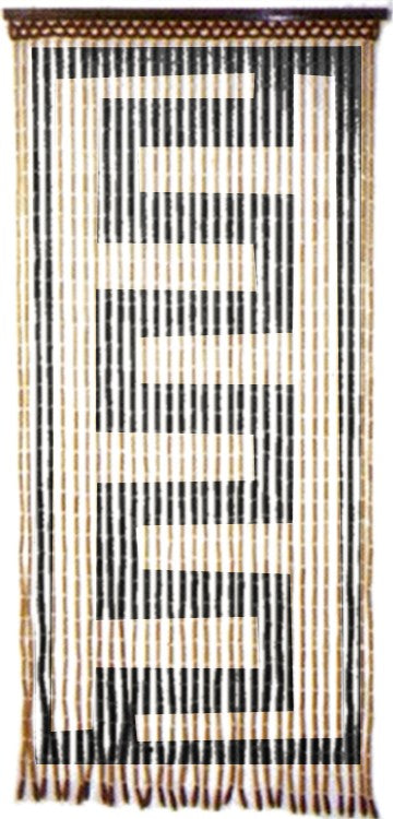 Curtains - Zig Zag Wooden Door Beads