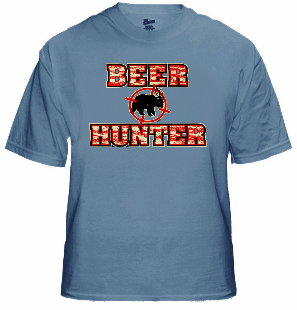 Bear Deer Beer Hunter Target  Mens T-shirt