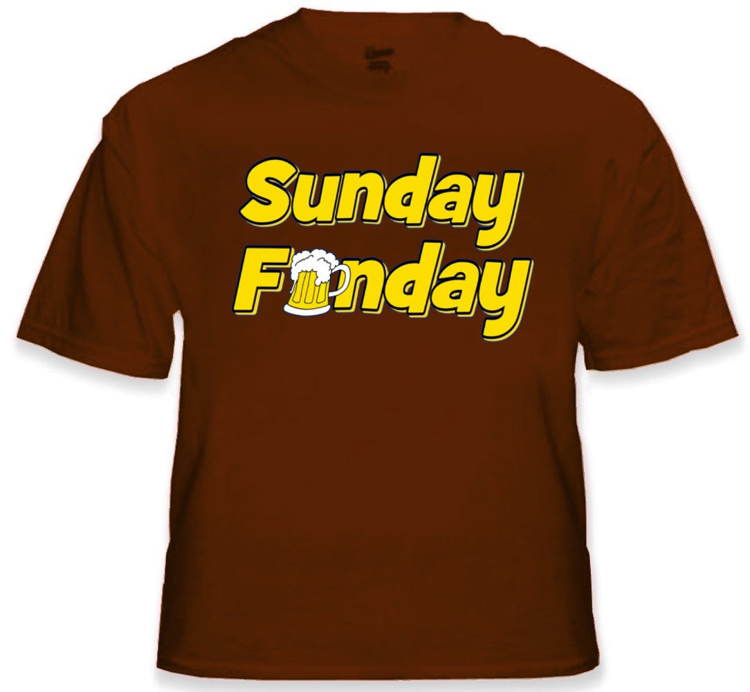 Beer Drinking Tees - Sunday Funday T-Shirt