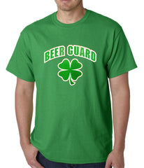 Beer Guard Irish Shamrock St. Patrick's Day Mens T-shirt Kelly Green