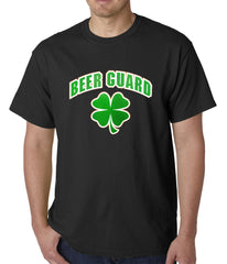 Beer Guard Irish Shamrock St. Patrick's Day Mens T-shirt Black