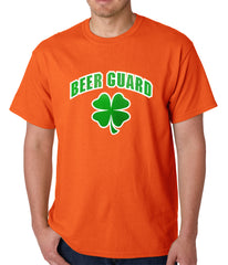 Beer Guard Irish Shamrock St. Patrick's Day Mens T-shirt Orange