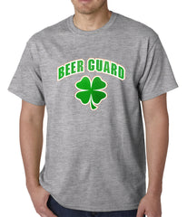 Beer Guard Irish Shamrock St. Patrick's Day Mens T-shirt Healther Grey