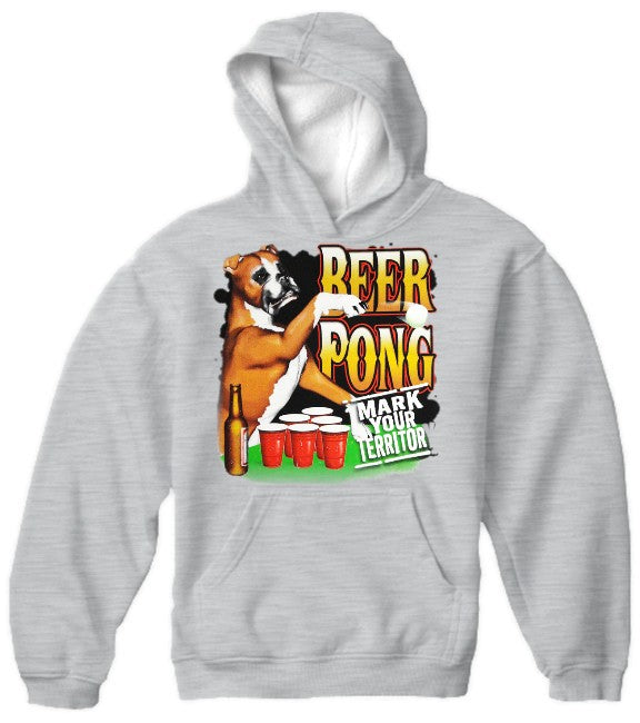 "Beer Pong ""Mark Your Territory"" Hoodie"