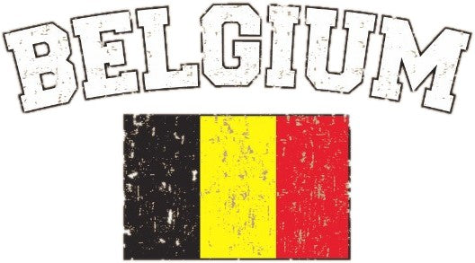 Belgium Vintage Flag International Hoodie