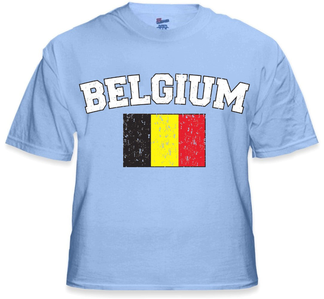 Belgium Vintage Flag International Mens T-Shirt