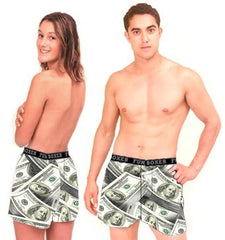 Benjamins Boxer Shorts Man & Woman
