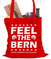 Bernie Sanders For President - Feel The Bern Tote Bag