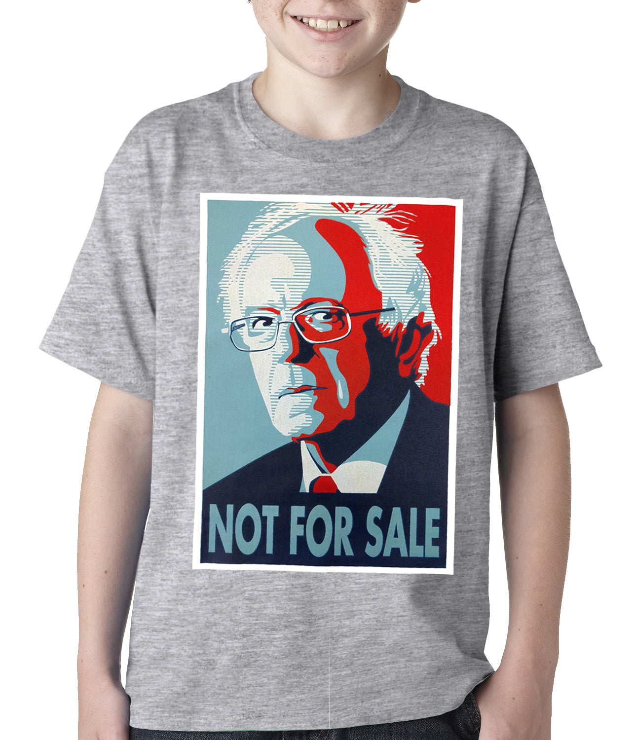 Bernie Sanders - Not For Sale - Election 2016 Kids T-shirt Grey