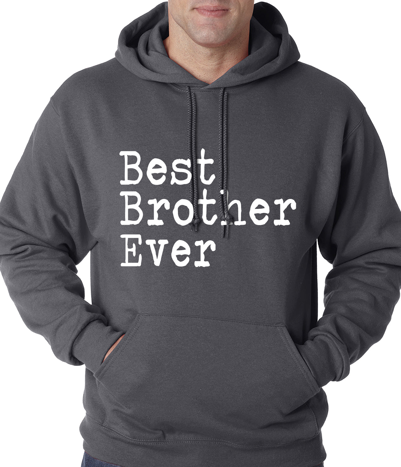 Best Brother Ever Adult Hoodie Brown