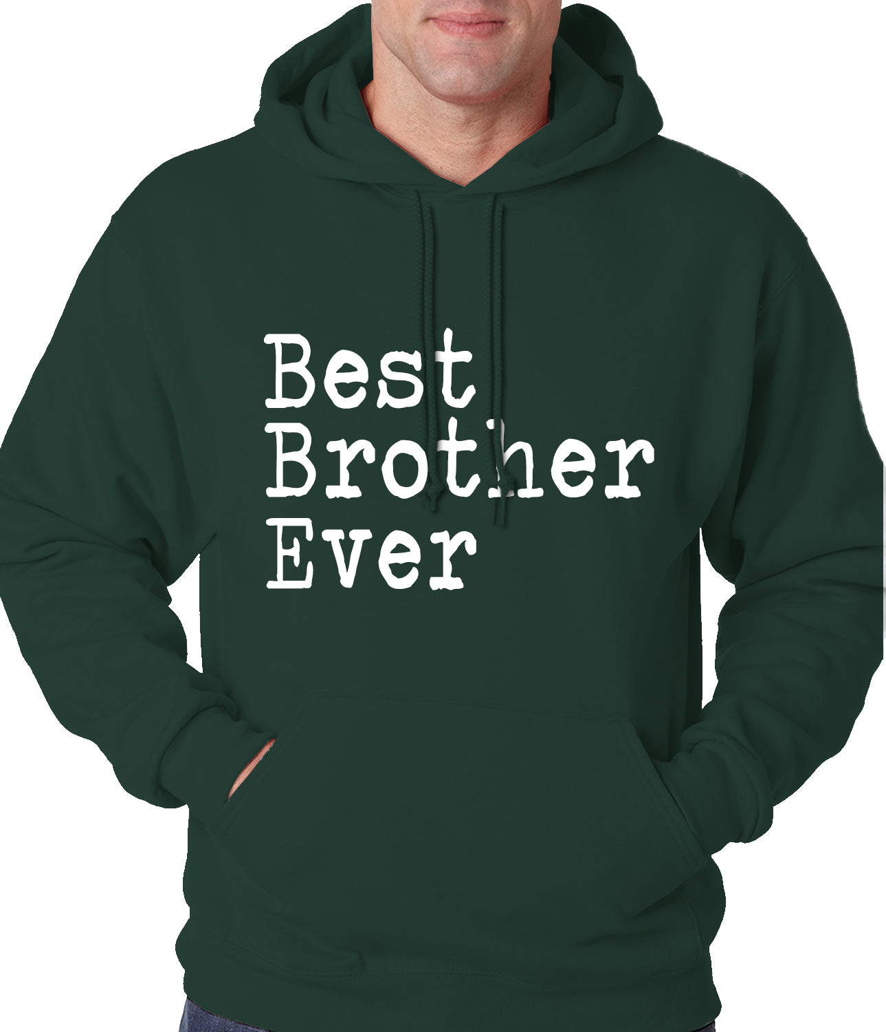 Best Brother Ever Adult Hoodie Charcoal Grey