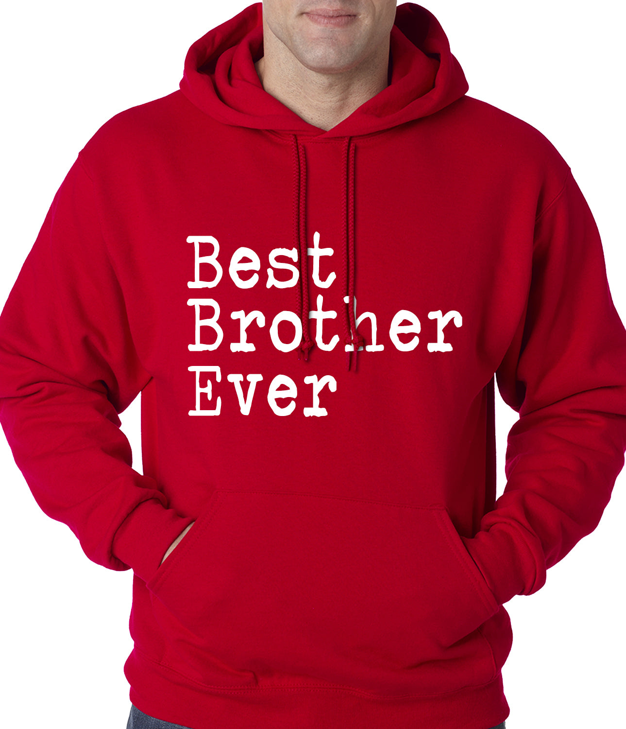 Best Brother Ever Adult Hoodie Red