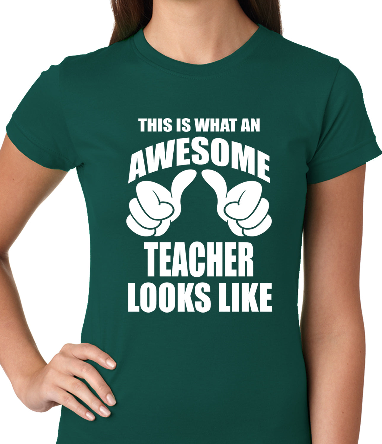 Best Teacher Ever Ladies T-shirt