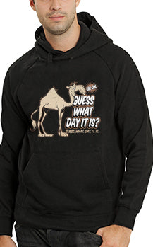 Bewild Guess What Day It Is? Camel Hump Day Adult Hoodie