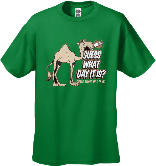 Bewild Guess What Day It Is? Camel Hump Day Kids T-Shirt