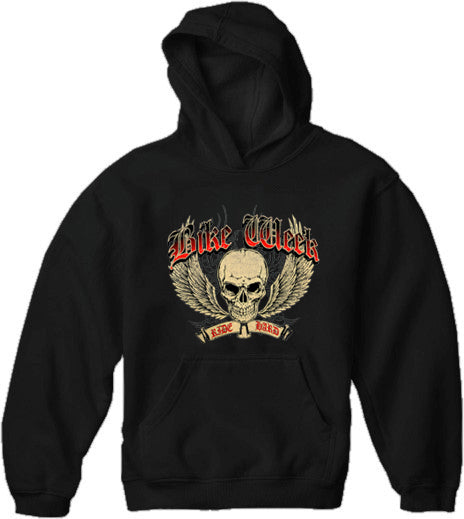 Bike Week Ride Hard Adult Hoodie Black
