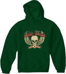 Bike Week Ride Hard Adult Hoodie Kelly Green