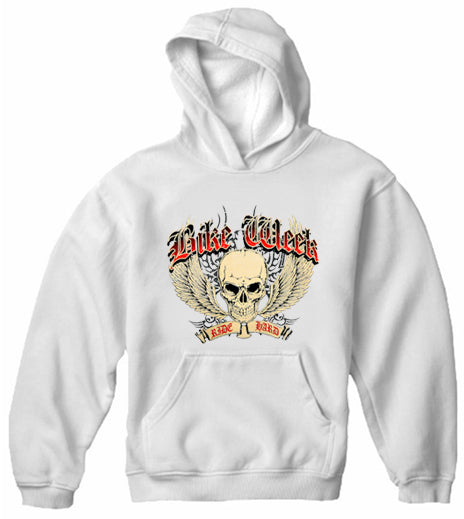 Bike Week Ride Hard Adult Hoodie White