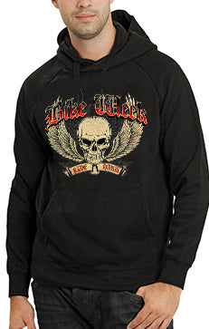 Bike Week Ride Hard Adult Hoodie Front View