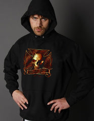 "Biker Hoodies - ""Bad Ass Iron Cross"" Biker Hoodie"