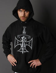 "Biker Hoodies - ""Chopper Sword & Cross"" Biker Hoodie"