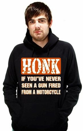 "Biker Hoodies - ""Gun Fired From a Motorcycle"" Hoodie"
