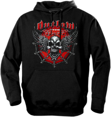 "Biker Hoodies - ""Outlaw From Hell"""