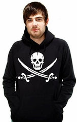 Hoodies - Pirate Skull and Swords Adult Biker Hoodie
