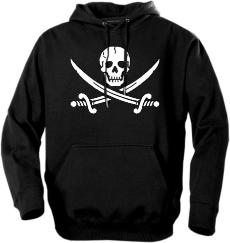 Biker Hoodies - Pirate Skull and Swords Adult