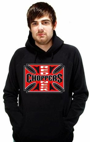 "Hoodies - ""Red Neck Choppers"" Biker Hoodie"