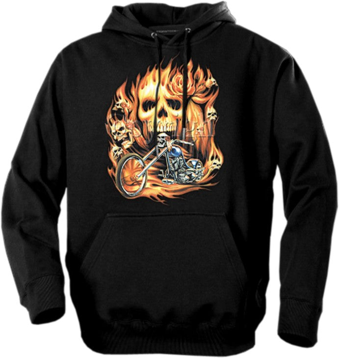 "Biker Hoodies - ""Rider From Hell"""