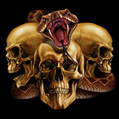 "Biker Hoodies - ""Slither Skulls"""