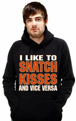 "Biker Hoodies - ""Snatch Kisses & Vice Versa"" Biker Hoodie Man"