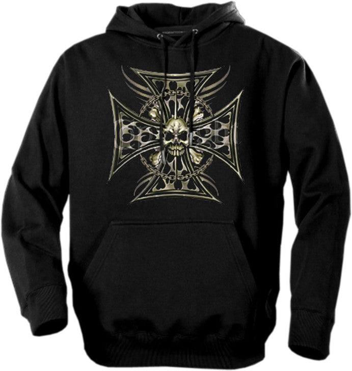 "Biker Hoodies - ""Tribal Chopper Chain"" Biker Hoodie"