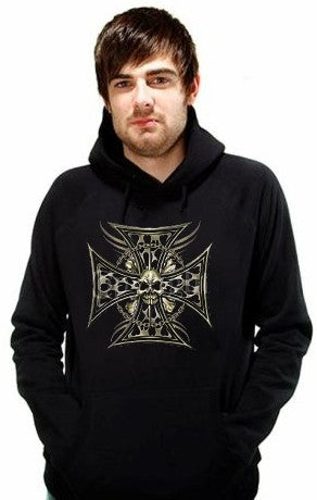 "Biker Hoodies - ""Tribal Chopper Chain"" Biker Hoodie Man"