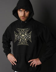 """Tribal Chopper Chain"" Biker Hoodie"