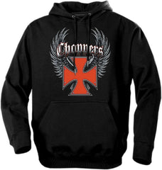 "Biker Hoodies - ""Winged Chopper Cross"" Biker Hoodie"