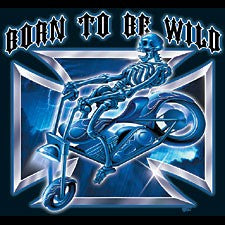 "Biker Shirts - ""Born To Be Wild"" Biker Shirt"
