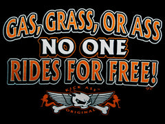 "Biker Shirts - ""Gas Grass or Ass Trucker Babe"" Biker Shirt"