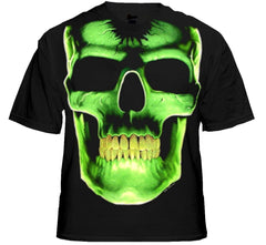 "Biker Shirts - ""Radioactive Glowing Skull"" Biker Shirt"