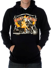 "Biker SweatShirts - ""Bad Ass Biker Babe"""