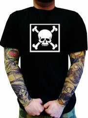 "Biker T-Shirts - ""Bones in a Box"" Biker Shirt Man"