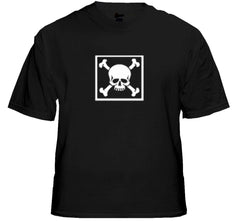 "Biker T-Shirts - ""Bones in a Box"" Biker Shirt Black"