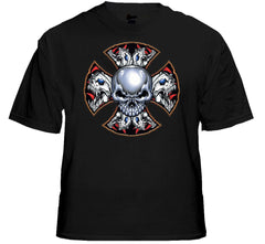 "Biker T-Shirts - ""Demon Iron Cross"" Biker Shirt"