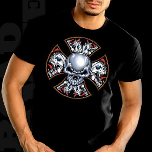 """Demon Iron Cross"" Biker Shirt"