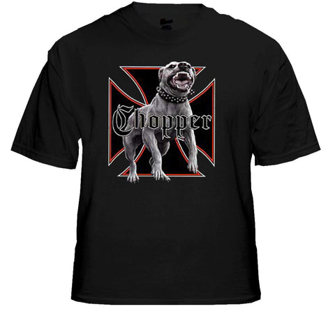 "Biker T-Shirts - ""Nasty Chopper Dog"" Biker Shirt"