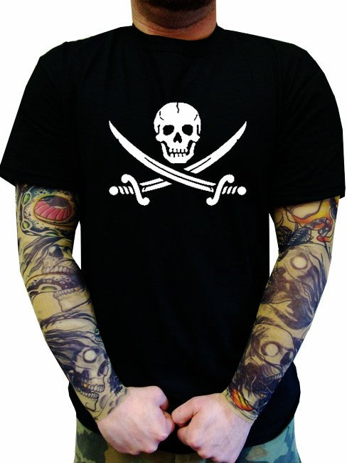 Biker T-Shirts - Pirate Skull and Swords