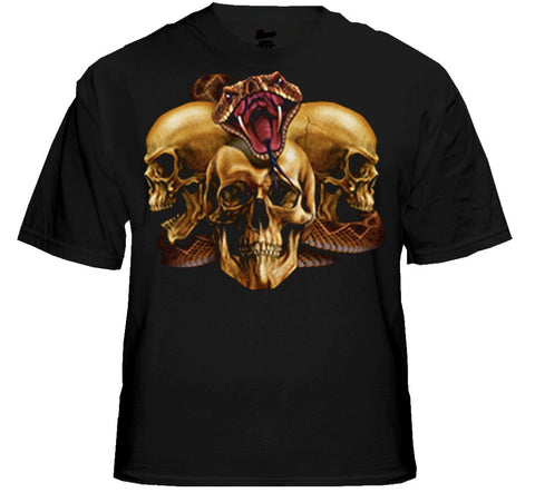 "Biker T-Shirts - ""Slither Skulls"" Biker Shirt"